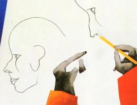 Francesco Tadini archivio, opera di Emilio Tadini, L'Atelier, 1993, acrilici su tela, 114x146, dettaglio