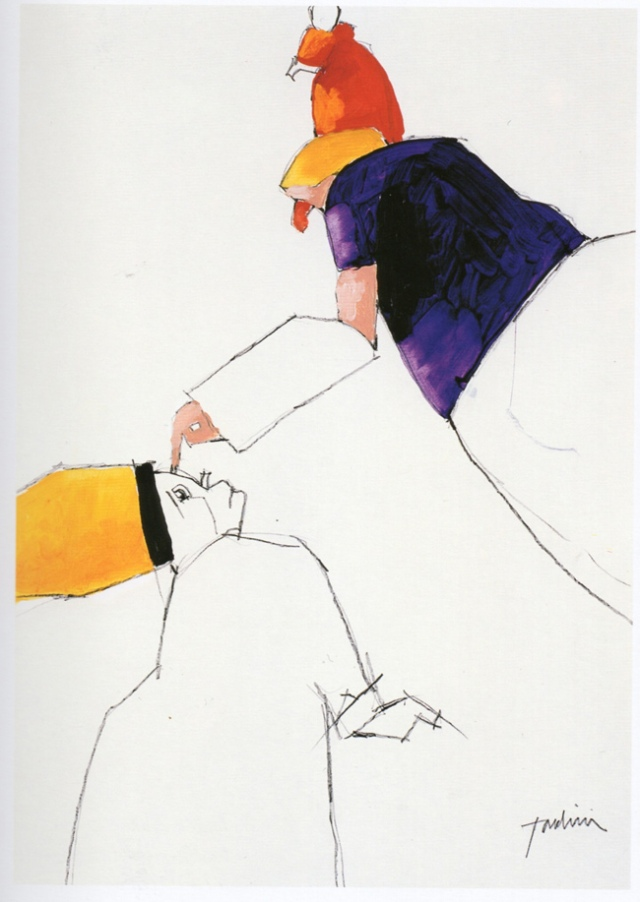 archivio Tadini, Emilio Tadini, Fiaba, 2000, Matita e acrilico su carta, 50x35,001