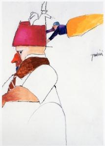 Francesco Tadini, archivio Tadini, Emilio Tadini, Fiaba, 2000, Matita e acrilico su carta, 50x35,002
