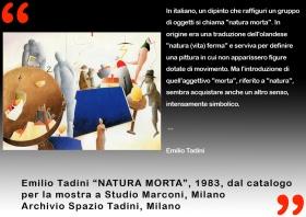 Francesco Tadini, Fondazione Marconi, natura morta di Emilio Tadini