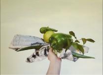 Francesco Tadini, testo - opera di Patrizia Zara, Green gears, 60x80, alchidico