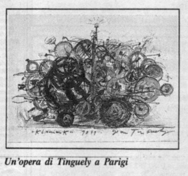 Jean Tinguely mostra al Centre Pompidou, Parigi – di Emilio Tadini